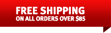 Free Shipping on all domestic orders over $85